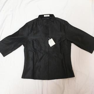 Lsize シャンブレーシャツ ブラック(シャツ/ブラウス(長袖/七分))
