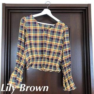 リリーブラウン(Lily Brown)の新品 リリーブラウン チェック柄シャツ(シャツ/ブラウス(長袖/七分))