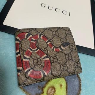 Gucci - GUCCI 折財布 スネーク スプリーム  メンズ ミケーレ