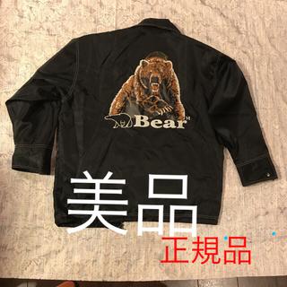 ベアー(Bear USA)のBear ウインドブレーカー リバーシブル Lサイズ 黒 超美品 お買い得です!(ナイロンジャケット)