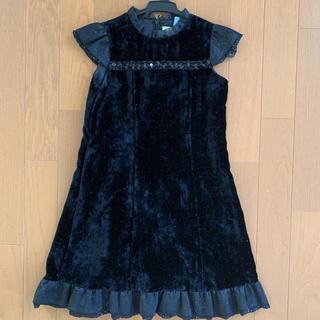 ミキハウス(mikihouse)のミキハウス 120 フォーマルワンピース 黒 発表会(ドレス/フォーマル)