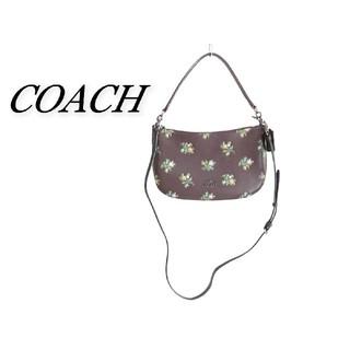 COACH - COACH コーチ 2wayバッグ ダークブラウン 花柄