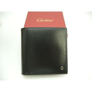 カルティエ(Cartier)のカルティエ 2つ折り財布 パシャ レザー黒 コンパクトウォレット 美品@ 1(折り財布)