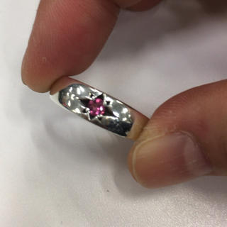 アガット(agete)のageteピンキーリング シルバーリング925 ピンクトルマリン(リング(指輪))