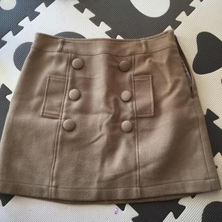 セシルマクビー(CECIL McBEE)のウールスカート・セシルスカート・キャメルスカート・キャメル色スカート(ミニスカート)