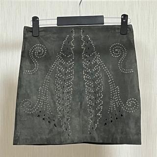 ZARA - ZARA スウェードタイトスカート