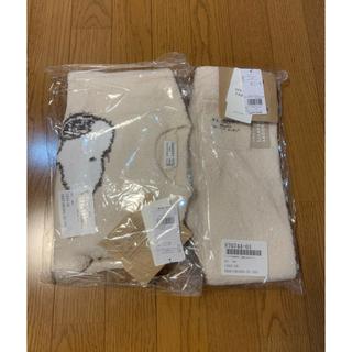 gelato pique - ジェラートピケとスヌーピーの暖か子供用の部屋着/パジャマ/XXS