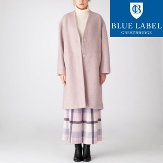 BURBERRY BLUE LABEL - 【新品タグ付き】ブルーレーベル・クレストブリッジ ノーカラーコート 38