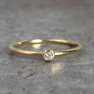 Tiffany & Co. - 天然ダイヤモンド ひと粒 シンプル ラグジュアル K18YG イエローゴールド