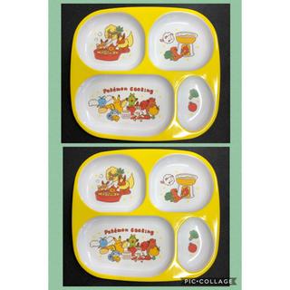 スリーコインズ(3COINS)の3COINS  スリコ ポケモン 4つ切りランチプレート 2枚(プレート/茶碗)