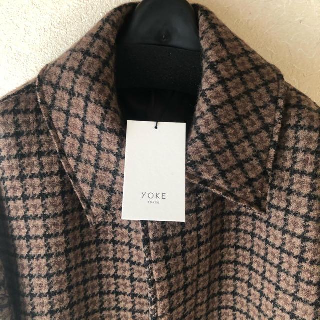 SUNSEA(サンシー)の定価以下 YOKE 19aw バルカラーコート ブラウンM メンズのジャケット/アウター(ステンカラーコート)の商品写真
