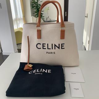 celine - 1回使用のみ CELINE ロゴプリント キャンバス & カーフスキン