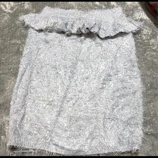 イートミー(EATME)のEATME シャギー スカート(ひざ丈スカート)