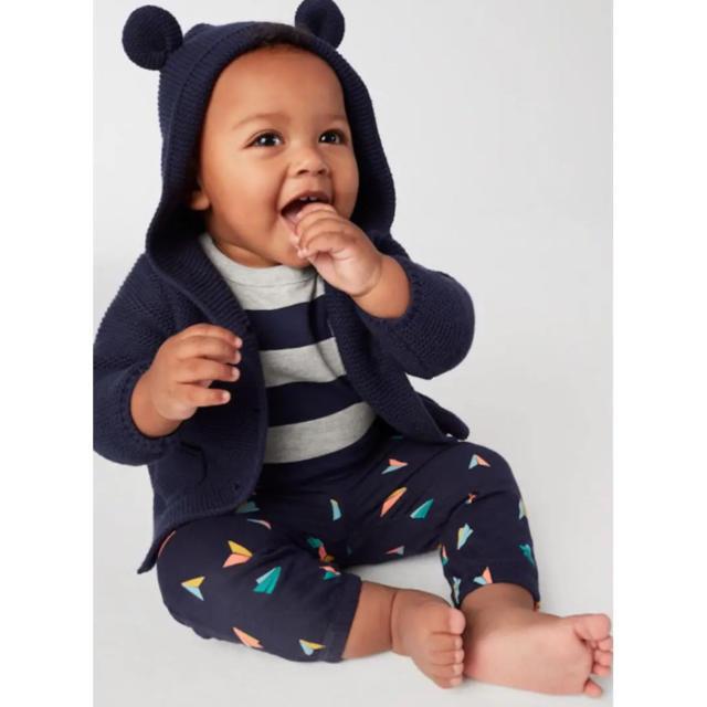 babyGAP(ベビーギャップ)の新品タグ付き ベビー ギャップ くま 耳 カーディガン ベージュ 80 キッズ/ベビー/マタニティのベビー服(~85cm)(カーディガン/ボレロ)の商品写真
