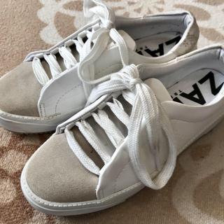 ザラ(ZARA)のten2さま専用❣️ザラ 白スニーカー(スニーカー)