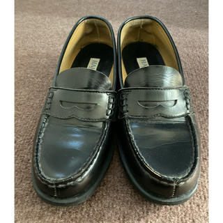 ハルタ(HARUTA)のHARUTA ローファー 黒 24.5EEEサイズ(ローファー/革靴)