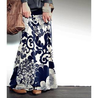 antiqua - アンティカ  2way花柄ロングスカート
