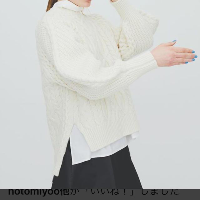 ENFOLD(エンフォルド)の☆専用☆ENFOLD ケーブルニット レディースのトップス(ニット/セーター)の商品写真