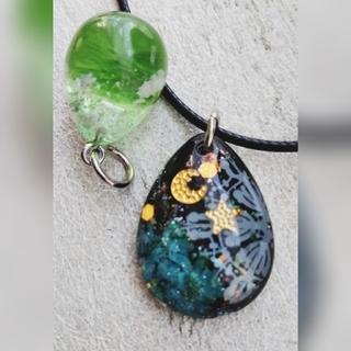 雪の結晶 お花ドロップ型 ネックレス オマケ付き(ネックレス)