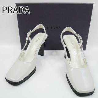 プラダ(PRADA)のPRADA プラダ 35 1/2 グレー ハイヒール 箱付(ハイヒール/パンプス)