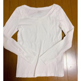 ジーユー(GU)のきゃろらいん様専用♡クルーネックホワイト(Tシャツ(長袖/七分))