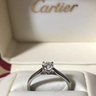 Cartier - 新品磨き済み カルティエ ソリテール  ダイヤ 0.30ct リング