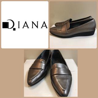 DIANA - ダイアナ ブロンズレザー パンプス