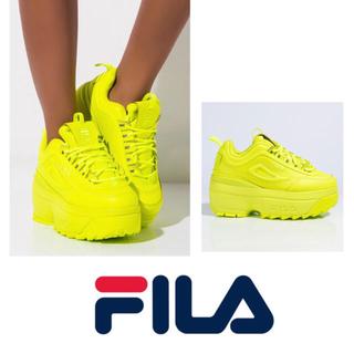 フィラ(FILA)のFILA フィラ 海外限定 DISRUPTOR 2 WEDGE 厚底 スニーカー(スニーカー)
