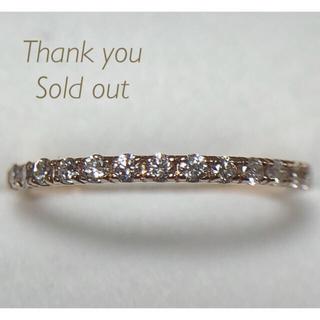 K18 ダイヤ 0.20ct ハーフエタニティー リング(リング(指輪))