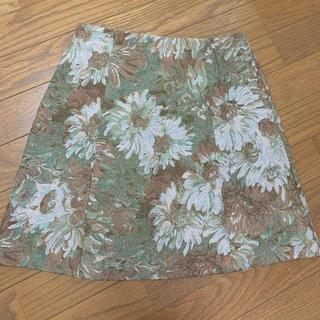 マーキュリーデュオ(MERCURYDUO)のMERCURYDUO ゴブラン柄台形スカート ヴィンテージ花柄スカート 美品(ミニスカート)