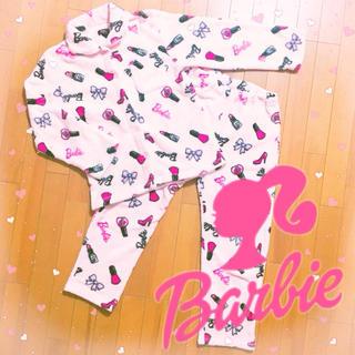 バービー(Barbie)のBarbie ✧*。モコモコパジャマ♡150 130バービー 女の子部屋着キッズ(パジャマ)