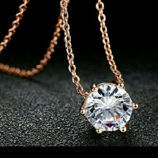 SWAROVSKI - f72❇️ベルサイユ❇️ 1粒 ダイヤモンドキュービックジルコニア ネックレス