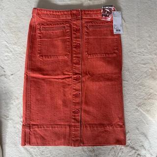 ユニクロ(UNIQLO)の新品タグ付き UNIQLO デニム ミディスカート+(ひざ丈スカート)