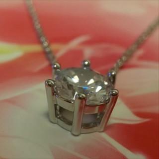 SWAROVSKI - f71❇️オーキッド❇️ 1粒 ダイヤモンドキュービックジルコニア ネックレス