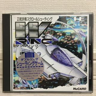 エヌイーシー(NEC)のダブルリング  PCエンジン Huカード(家庭用ゲームソフト)