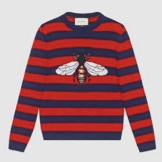 Gucci - GUCCI ビー ハチ ストライプ ウール セーター XL