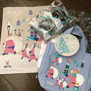 カルディ(KALDI)のKALDIオリジナルクリスマスミニバッグ2019(菓子/デザート)