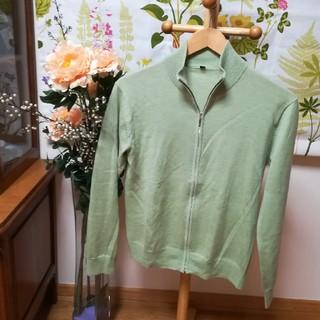 MUJI (無印良品) - ✨良品計画 ウールセーター ジップアップ 黄緑色Sサイズ♪