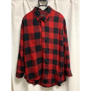LAD MUSICIAN - 18aw アシメチェックシャツ 42サイズ