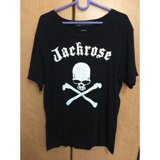 ジャックローズ(JACKROSE)のJACKROSE Tシャツ メンズ 黒 M L スカル プリント(Tシャツ/カットソー(半袖/袖なし))