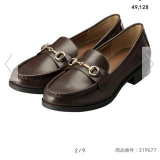 ジーユー(GU)のジーユー ビットローファー 新品 ブラウン Lサイズ(ローファー/革靴)