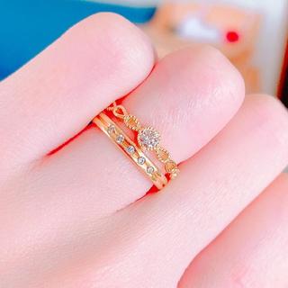 今月までお値下げ♡美品♡メザンジュ♡ダイヤモンドピンキーリング♡3号(リング(指輪))