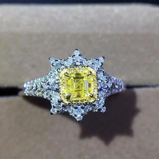 (天使の指輪)天然イエローダイヤモンド リング(リング(指輪))