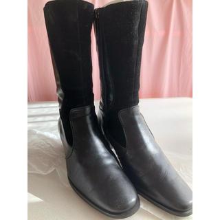 アシックス(asics)のロングブーツ 黒 アシックス wallage 22cm(ブーツ)