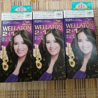 ウエラ(WELLA)の(mama様専用)新品3個セット白髪染めウエラトーンツープラスワン5GM(白髪染め)