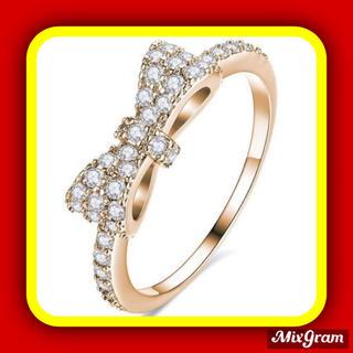 スワロフスキー(SWAROVSKI)の✨定価5980円✨★SWAROVSKI★ 指輪 リングリボン アクセサリー(リング(指輪))