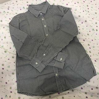 イッカ(ikka)の黒 チェックシャツ(シャツ/ブラウス(長袖/七分))
