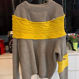 sacai - sacai コントラストパネル セーター