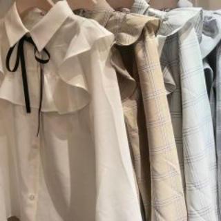 evelyn - ❤︎ ByeBye check blouse ❤︎
