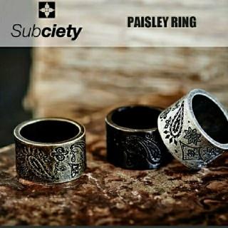サブサエティ(Subciety)のサブサエティ ペイズリーリング 指輪(リング(指輪))
